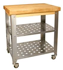 stainless steel butcher table amazon com catskill craftsmen stainless steel butcher block cart
