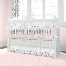 pink and grey elephant crib bedding tags pink elephant crib