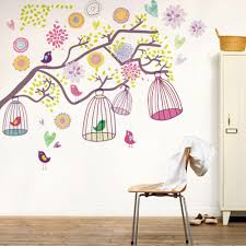 diy home decoration little birds singing the tree birdcage diy home decoration little birds singing the tree birdcage removable wall stickers wallpaper mural decal adesivo parede decals for