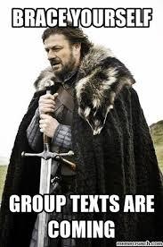Group Text Meme - text
