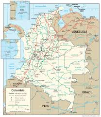 Topographical Map Of South America by