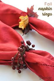 simple fall themed diy napkin rings