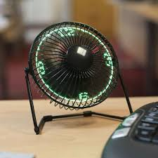 horloge sur le bureau ventilateur de bureau horloge cadeau maestro