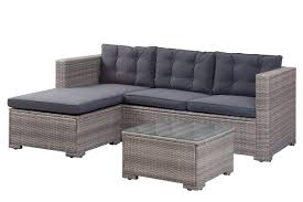 woven patio furniture beachcrest home henrie outdoor poly rattan patio 3 piece sectional
