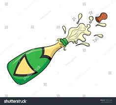 champagne cartoon cartoon champagne bottle popping stock vector 730721284 shutterstock