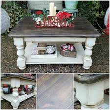 shabby chic coffee table in annie sloan u0027s old white with a vintage