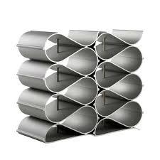 echelon wave 12 bottle wine rack metal aluminium aluminum