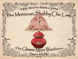 second life marketplace moroccan shabby chic lamp