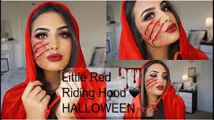 red cape spirit halloween the little red riding hood halloween makeup tutorial 2016 youtube