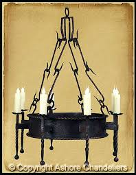 Forged Chandeliers Forged Iron Chandeliers Ch Single Tier Lodge Chandelier