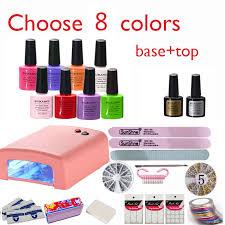 burano nail kit art diy full set led soak off uv gel polish