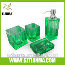 Glass Bathroom Accessories Sets Customer Glass Bathroom Accessories Set Amber Color Buy Bathroom