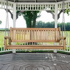 veranda hanging teak porch swing westminster teak outdoor furniture