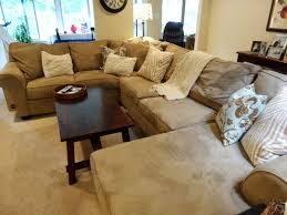 Decorating Ideas With Sectional Sofas Furniture Brown U Shaped Sectional Sofa With Teak Table And