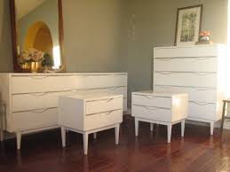American Of Martinsville Bedroom Furniture Cool White And Wood Dresser On Mid Century American Of