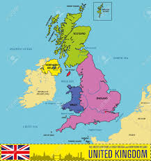 Channel Islands Map Vector Political Map Of The United Kingdom Of Great Britain And