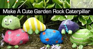 how to make a cute garden rock caterpillar
