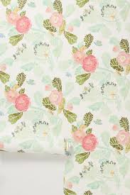 Block Print Wallpaper Watercolor Flora Wallpaper Anthropologie