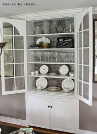 Built In Cabinets In Dining Room A Simple Diy Cabinet Update With Pergo China Cabinets