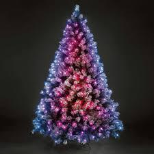 tree with lights happy holidays purple