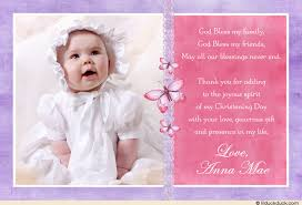 baptism thank you wording butterfly single photo baptism invitation girl pastel