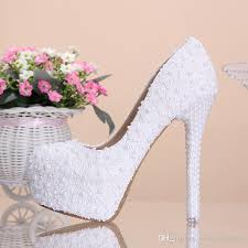 wedding shoes online uk 2015 new arrival cheap high quality white beautiful vogue lace
