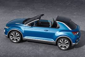 volkswagen convertible 2000 volkswagen t roc concept is an suv convertible done right