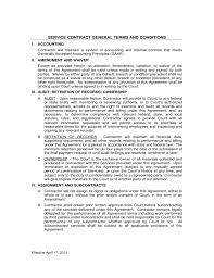 free sample of contract agreement for services best resumes