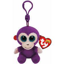 2015 ty beanie baby boos grapes purple monkey key clip ships