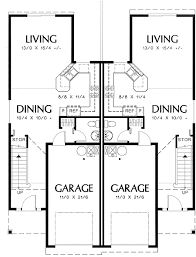 duplex floor plans for narrow lots plan 69377am curb appeal in traditional duplex plan duplex