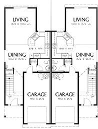 duplex floor plans for narrow lots plan 69377am curb appeal in traditional duplex plan duplex