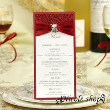 diy wedding menu cards creative wedding menu card ideas wedding invitations