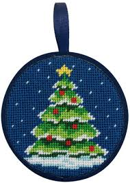 peterson christmas tree christmas ornament needlepoint kit