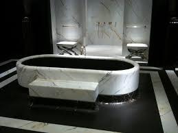 Dark Bathroom by Luxury Dark Bathroom With Marble Style Also White Freestanding
