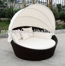rattan round outdoor lounge bed with canopy rattan round outdoor