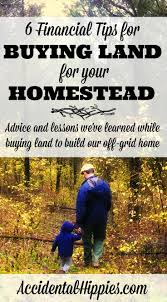 6 financial tips for buying land for your homestead accidental