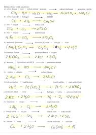 balancing chemical equations example problems