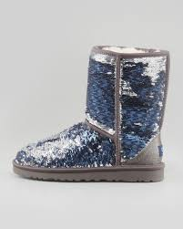 ugg womens glitter boots ugg sparkles boot midnight multi in blue lyst