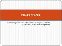 pascal u0027s triangle by buffalo1966 teaching resources tes