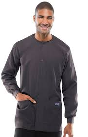 workwear originals s snap front solid scrub jacket