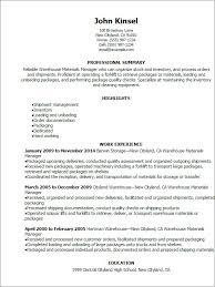 Forklift Resume Sample Resume Warehouse Unforgettable Warehouse Associate Resume