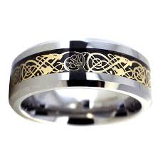 carbon fiber wedding rings gold celtic tungsten ring black carbon fiber wedding band