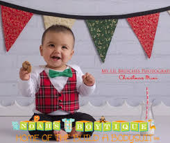 baby boy christmas baby boy christmas with plaid tartan vest and green bow tie