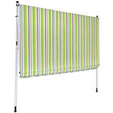balkon markise ohne bohren klemm markise 3 x 1 5 m grün braun balkonmarkise spannmarkise