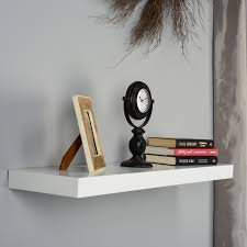 white deep floating shelves