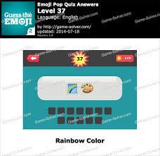 emoji pop quiz level 37 game solver