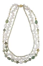 white freshwater pearls necklace images 4 strand white freshwater pearl necklace with peridot hairstone jpg