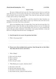 testing reading sample tasks