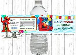 elmo party favors 10 elmo 2nd birthday water bottle labels any age elmo