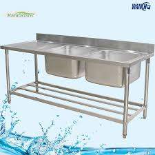Stainless Steel Commercial Kitchen Sink Table With Boardaustralia - Commercial kitchen sinks stainless steel